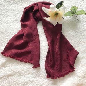 Ralph Lauren 100% Silk Red Scarf Equestrian K